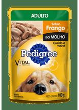 Racao-Umida-Pedigree-Sache-VitalPro-Frango-ao-Molho-para-Caes-Adultos--
