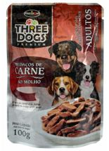 Three-Dogs-Adulto-Pedacos-de-Carne-ao-Molho---100g-_-Sache-Hercosul