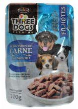 Three-Dogs-Filhotes-Pedacinhos-de-Carne-ao-Molho---100g-_-Sache-Hercosul