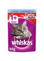 Racao_Umida_Whiskas_Sache_Carne_ao_Molho_para_Gatos_Adultos_Castrados-85g