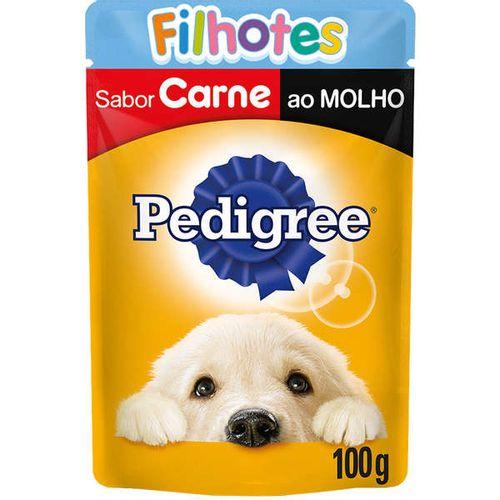 Racao_Umida_Pedigree_Sache_Carne_ao_Molho_para_Caes_Filhotes-100g